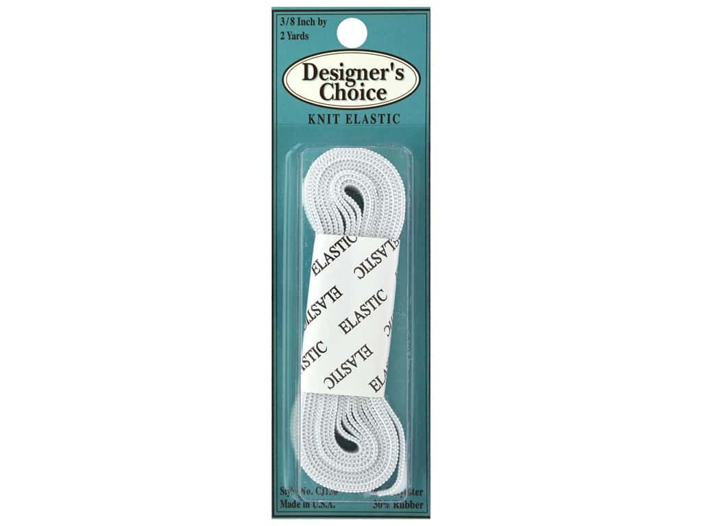 Conrad Jarvis Knit Elastic 3/8 in x 2 yd White