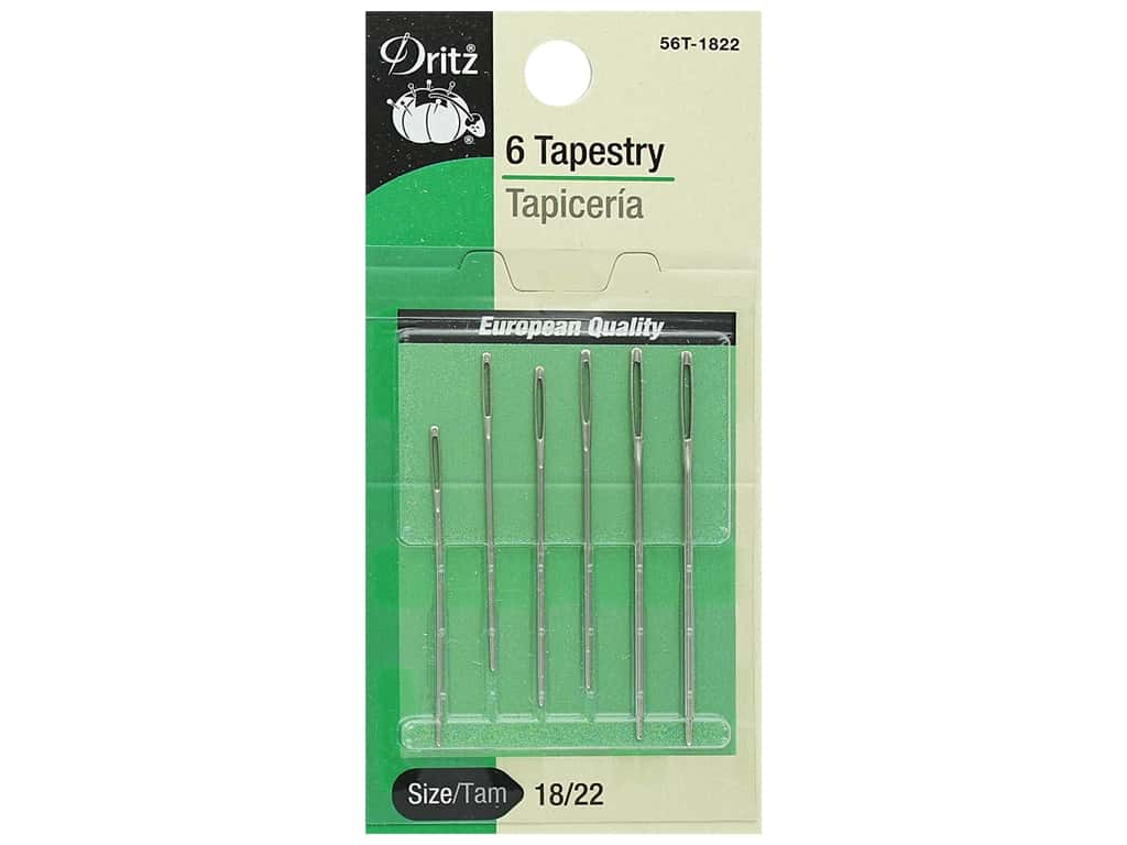 Dritz Tapestry Needles Size 18/22 6 pc.