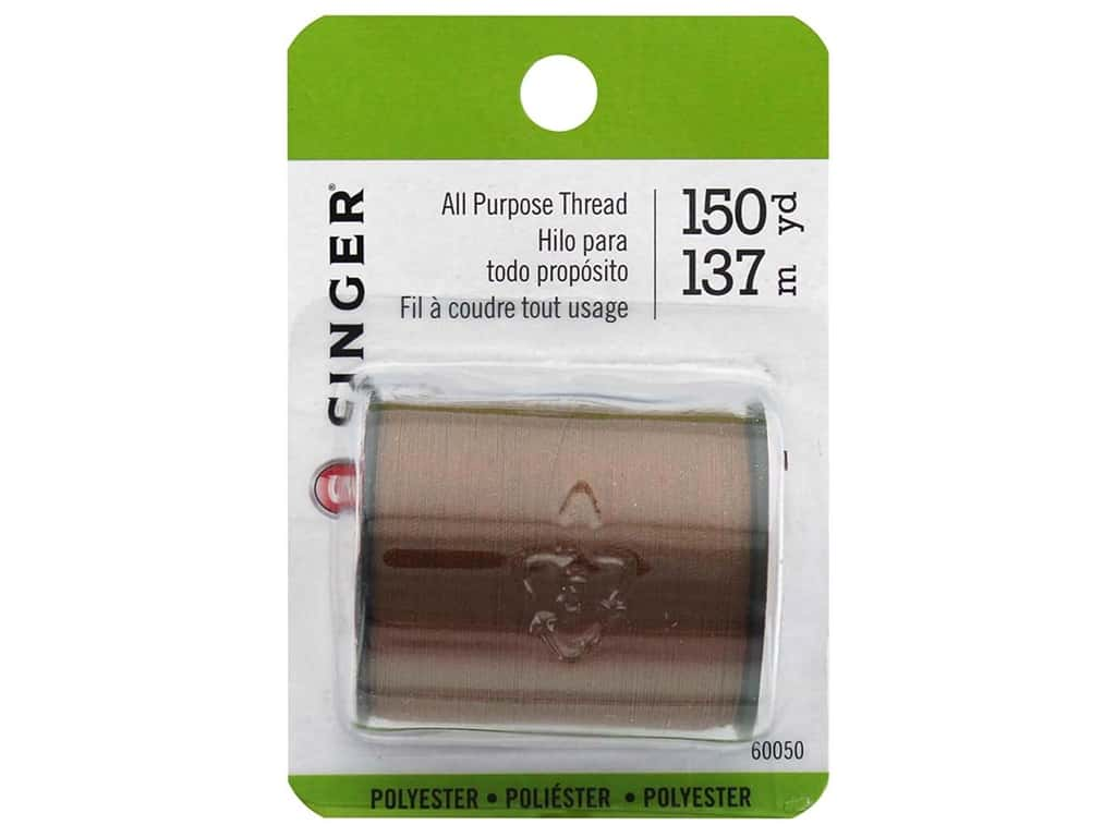 Singer All Purpose Thread 150 yd. Brown