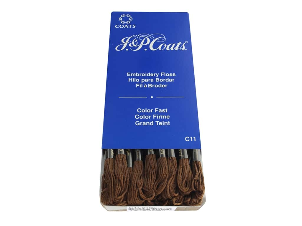 J & P Coats Six-Strand Embroidery Floss #5360 Beige Brown Very Dark (24 skeins)