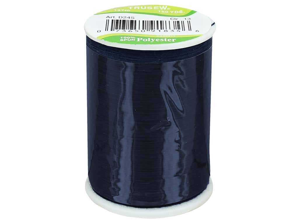 Coat Trusew Polyester Thread 150 yd. Navy (12 spools)
