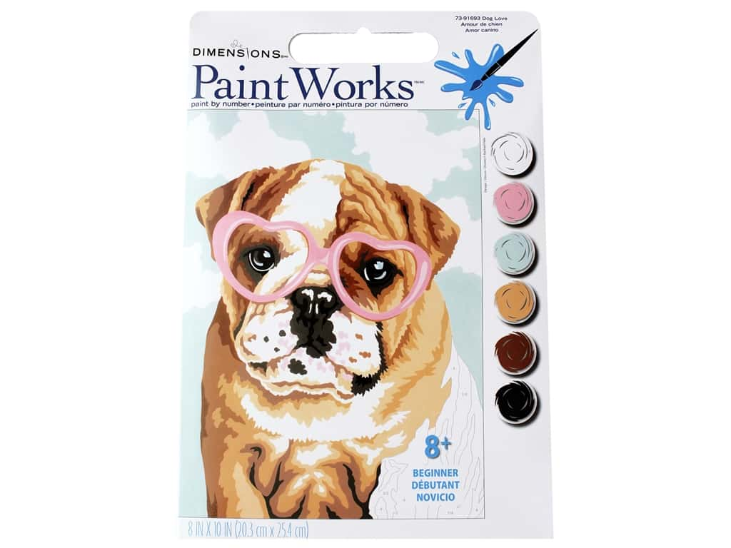 Paint Works Paint By Number Kit 8 x 10 in. Dog Love