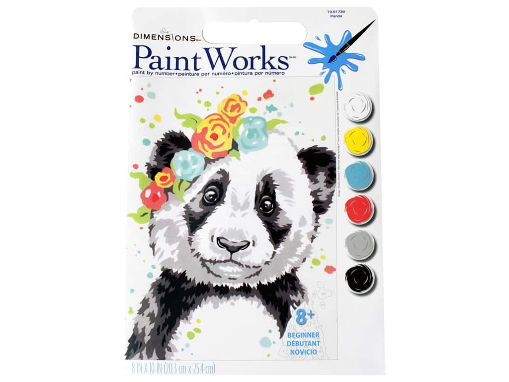 Paintworks Paint By Number Kit 8 x 10 in. Panda