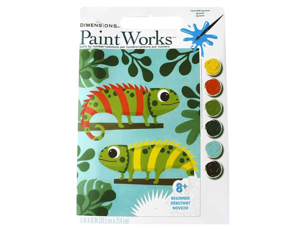 Paintworks Paint By Number Kit 8 x 10 in. Iguanas