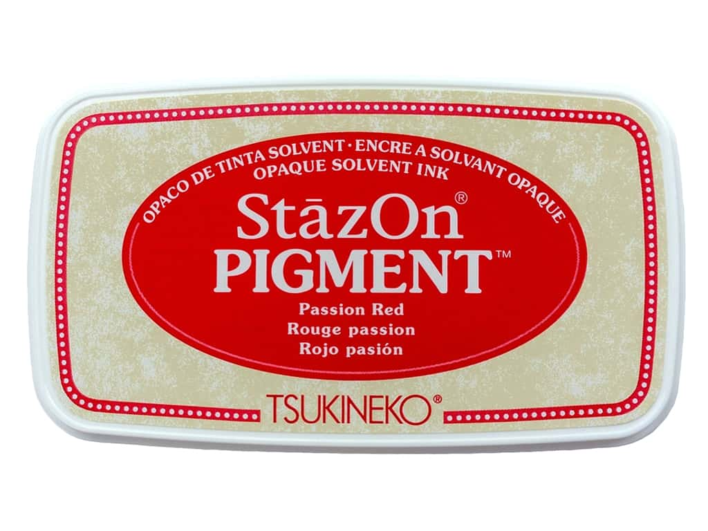 Tsukineko StazOn Pigment Ink Pad Passion Red