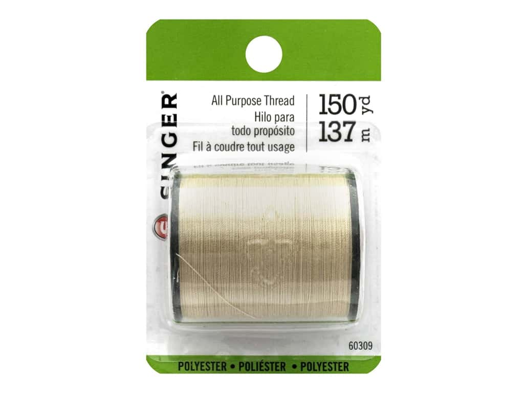 Singer Thread All Purpose Polyester 150 yd. Camel
