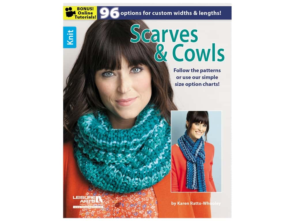 Leisure Arts Knit Scarves & Cowls Book