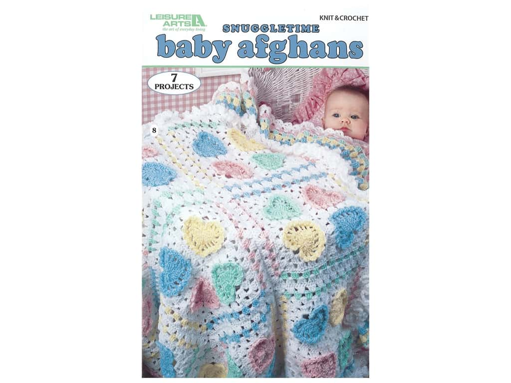 Leisure Arts Snuggletime Baby Afghans Crochet Book