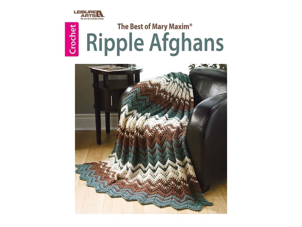 Leisure Arts Best Of Mary Maxim Ripple Afghans Book