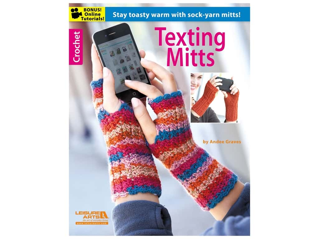 Leisure Arts Texting Mitts Book