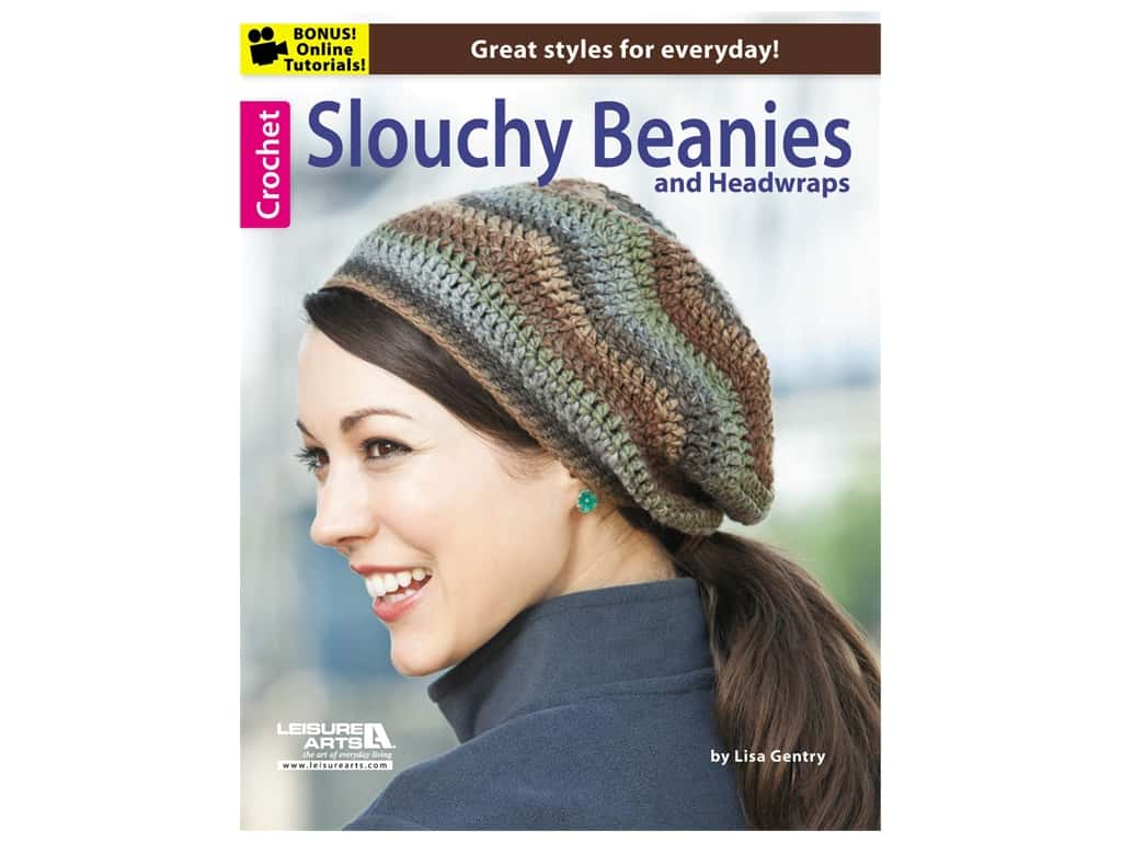 Leisure Arts Slouching Beanies & Headwraps Book
