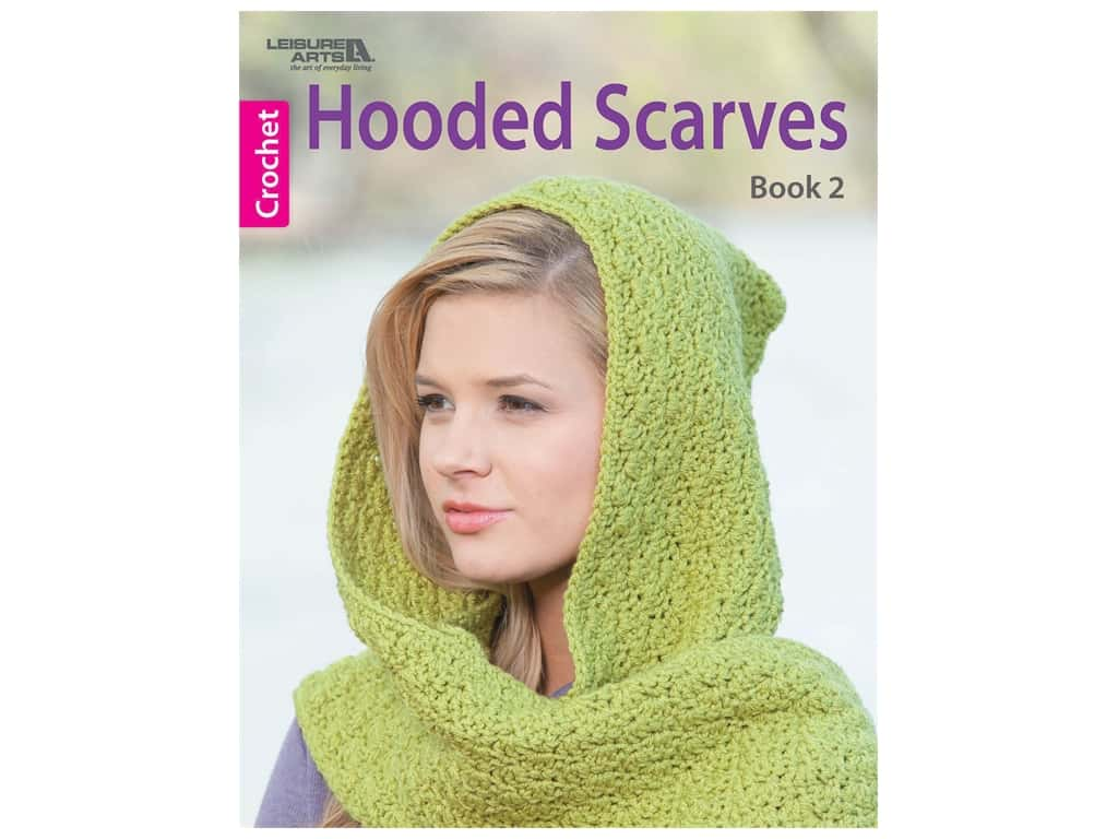Leisure Arts Hooded Scarves #2 Crochet Book