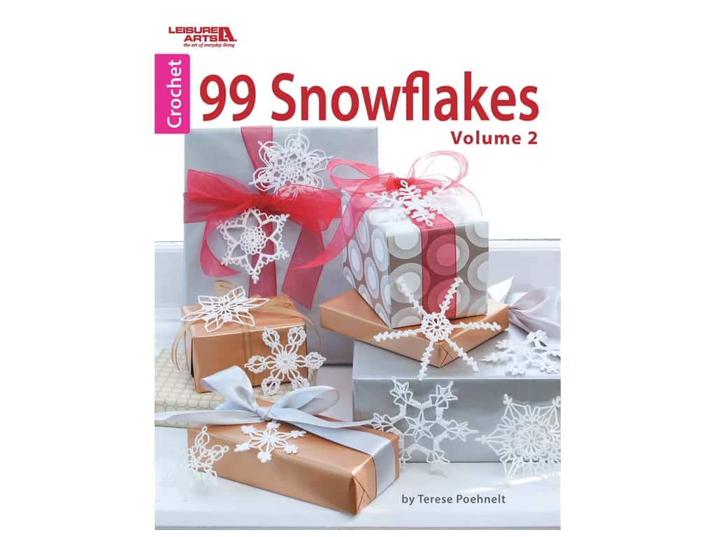 Leisure Arts 99 Snowflakes Volume 2 Crochet Book
