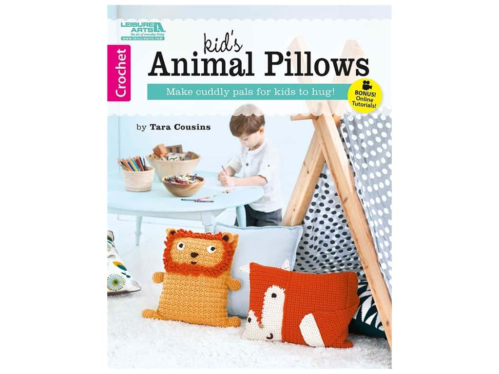 Leisure Arts Kid's Animal Pillows Book