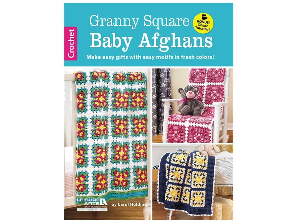 Leisure Arts Granny Square Baby Afghans Book