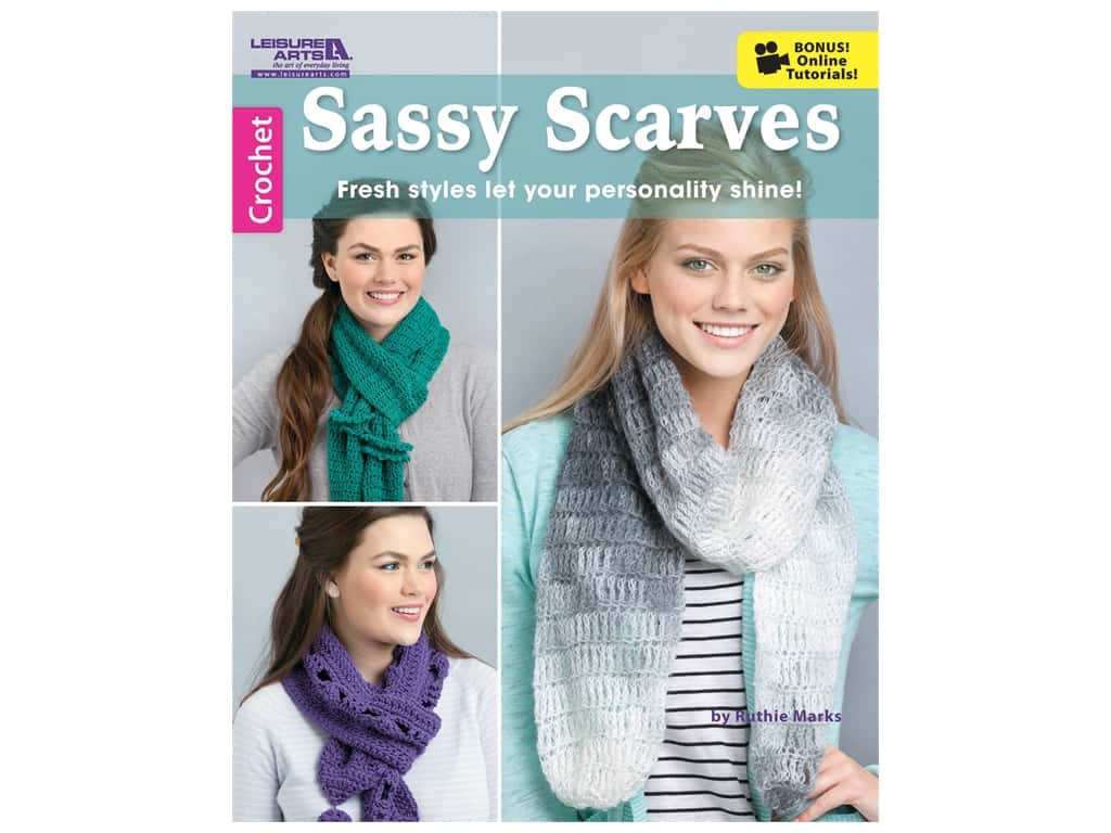 Leisure Arts Sassy Scarves Crochet Book