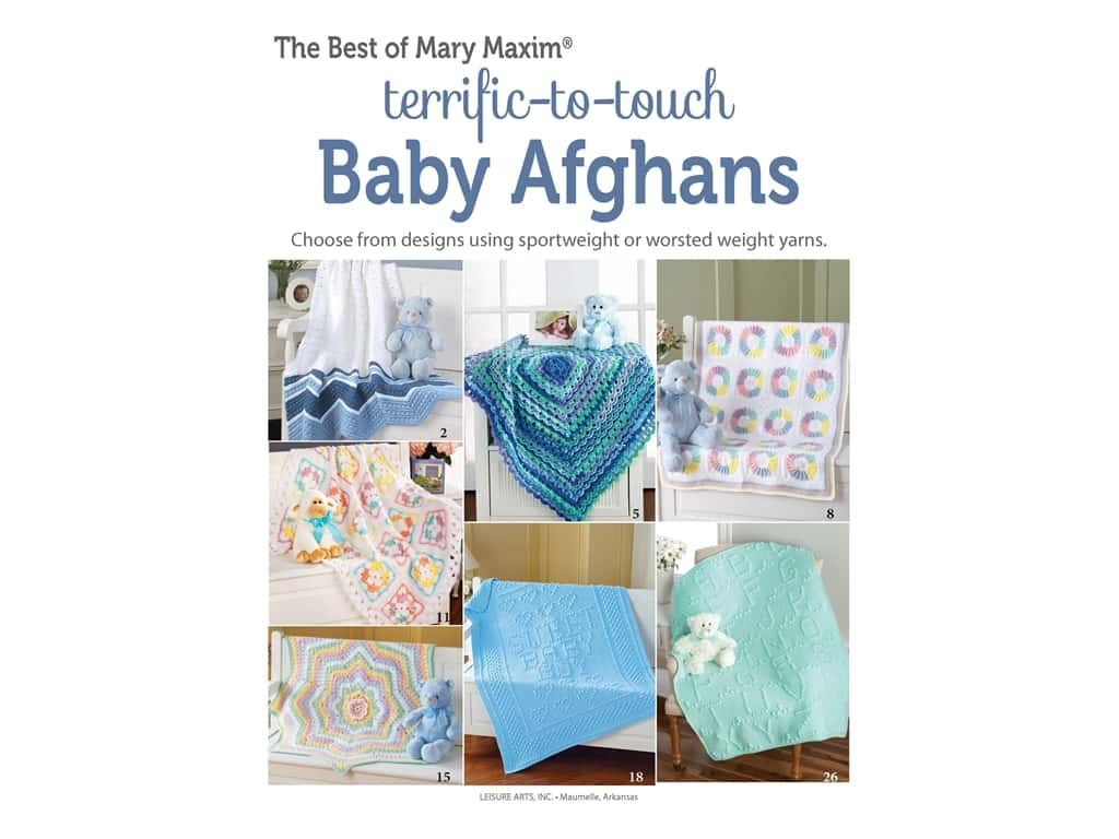 Leisure Arts Terrific To Touch Baby Afghans Book