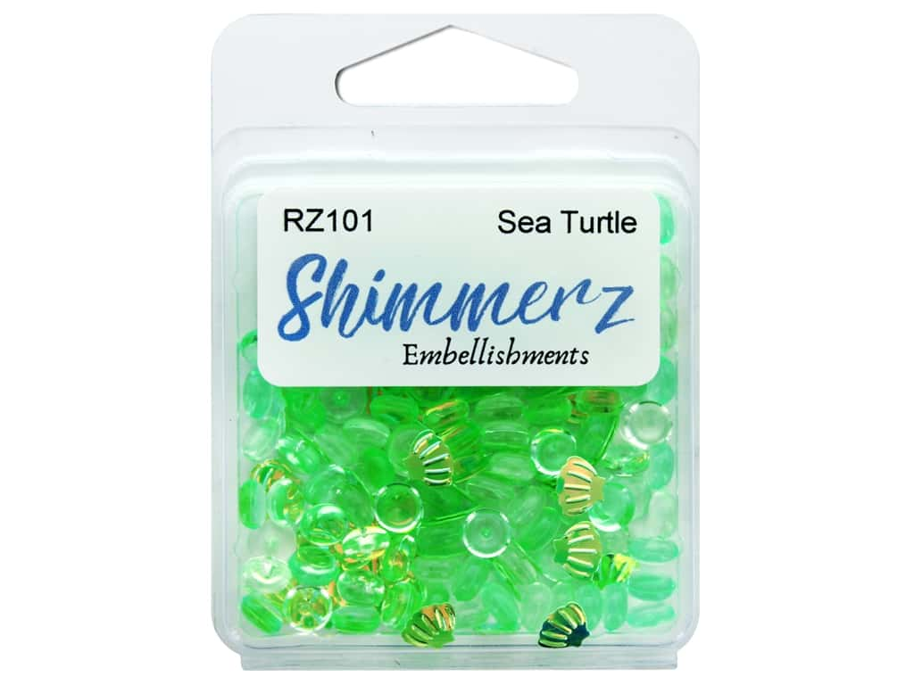 Buttons Galore Embellishments Shimmerz Sea Turtle