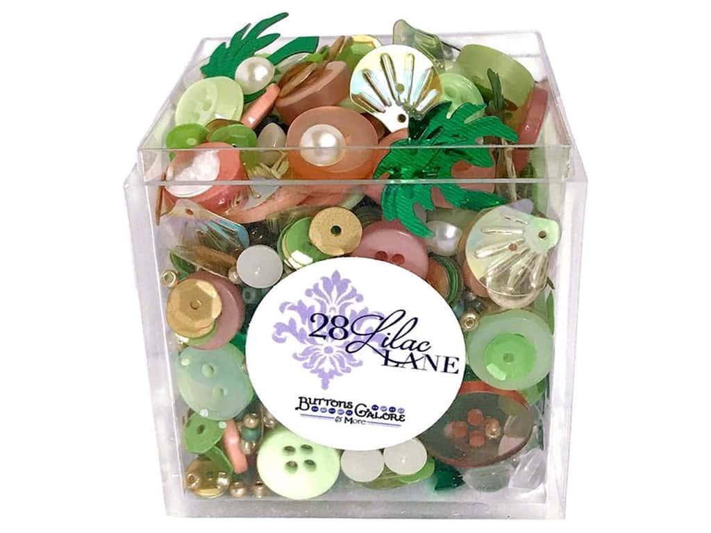 Buttons Galore 28 Lilac Lane Shaker Mix Bahama Breeze