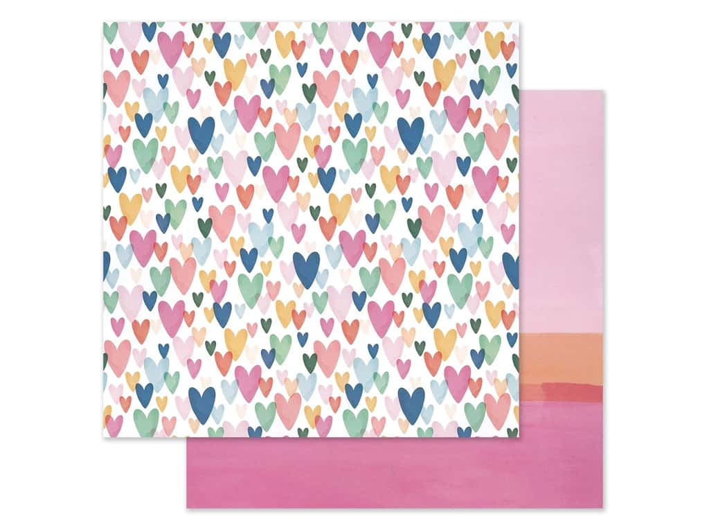 American Crafts 12 x 12 in. Paper Dear Lizzy She's Magic Kind Heart (25 pieces)