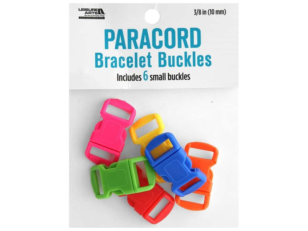 Leisure Arts Paracord Bracelet Buckles 6 pc. Small Dark Multi