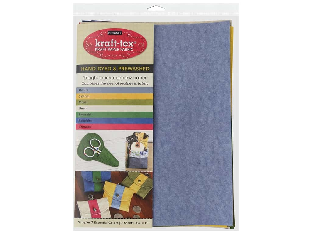 C&T Publishing Kraft-Tex Paper Fabric Hand-Dyed & Prewashed Sampler Pack 7 pc.