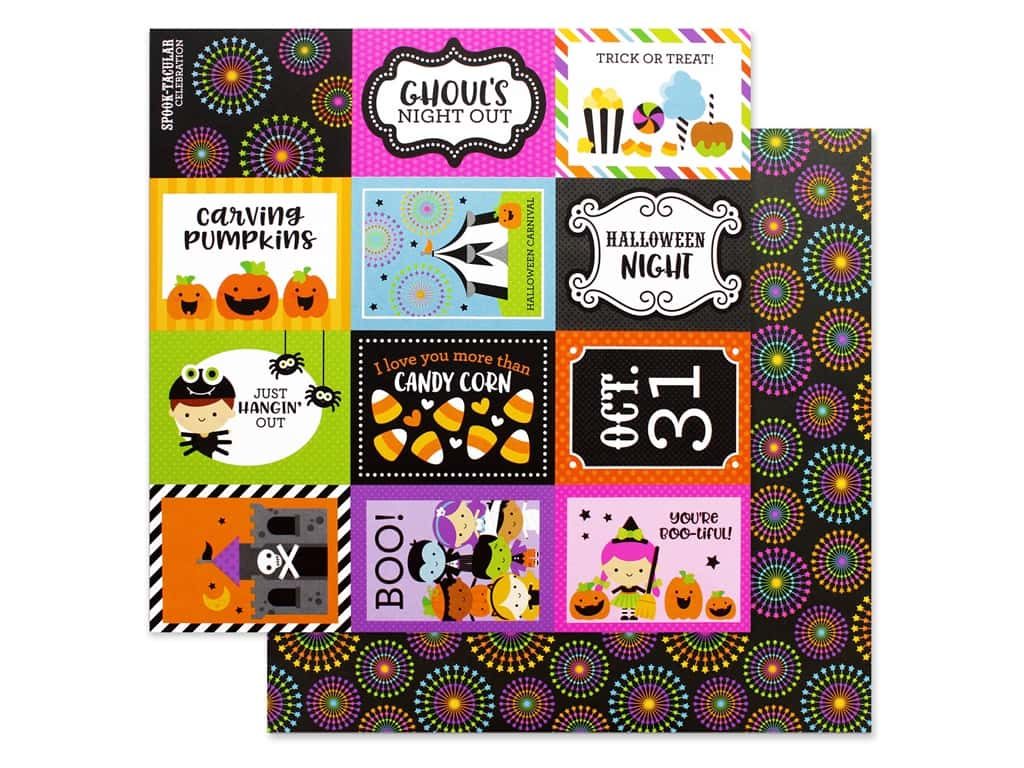 Doodlebug 12 x 12 in. Paper Candy Carnival Spook-tacular (25 pieces)