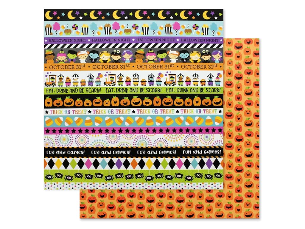 Doodlebug 12 x 12 in. Paper Candy Carnival Carving Contest (25 pieces)