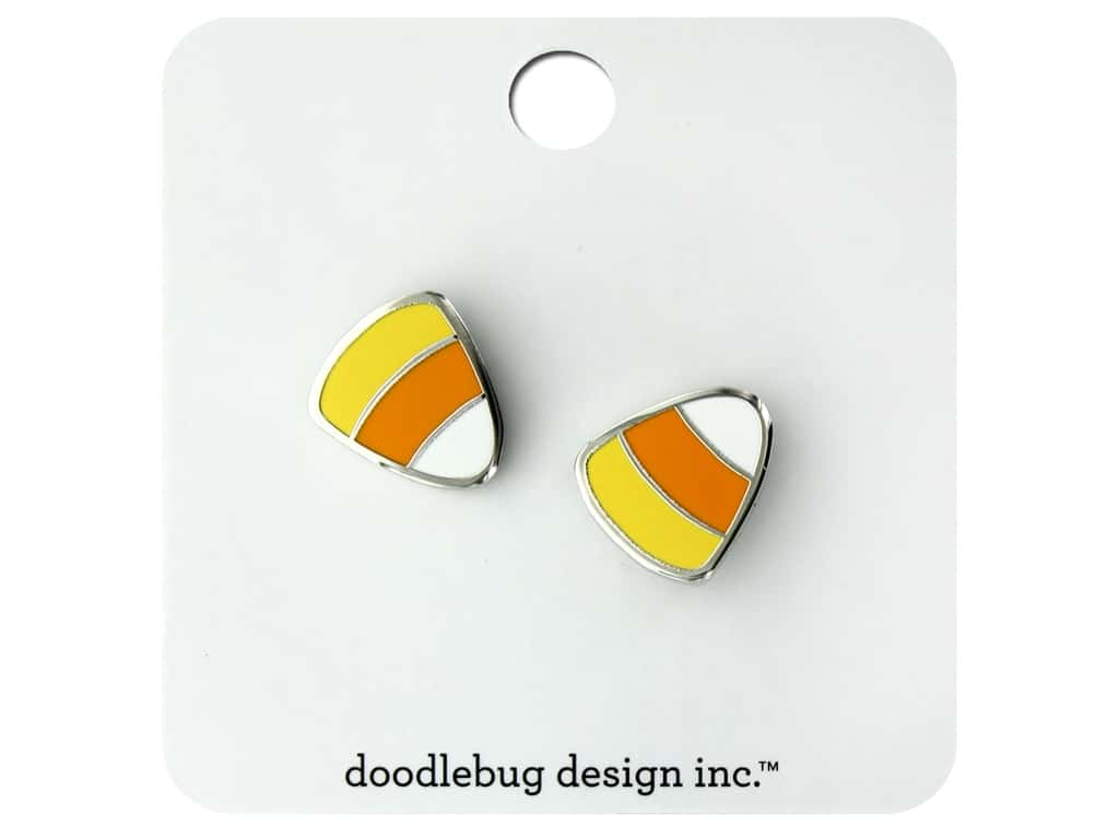 Doodlebug Collection Candy Carnival Enamel Pin Candy Corn 2pc