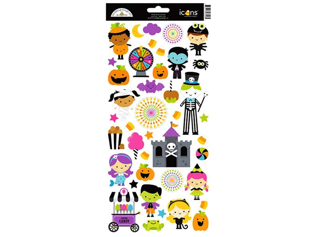 Doodlebug Stickers Candy Carnival Icons