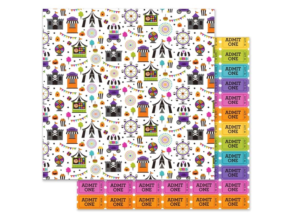Doodlebug 12 x 12 in. Paper Candy Carnival (25 pieces)