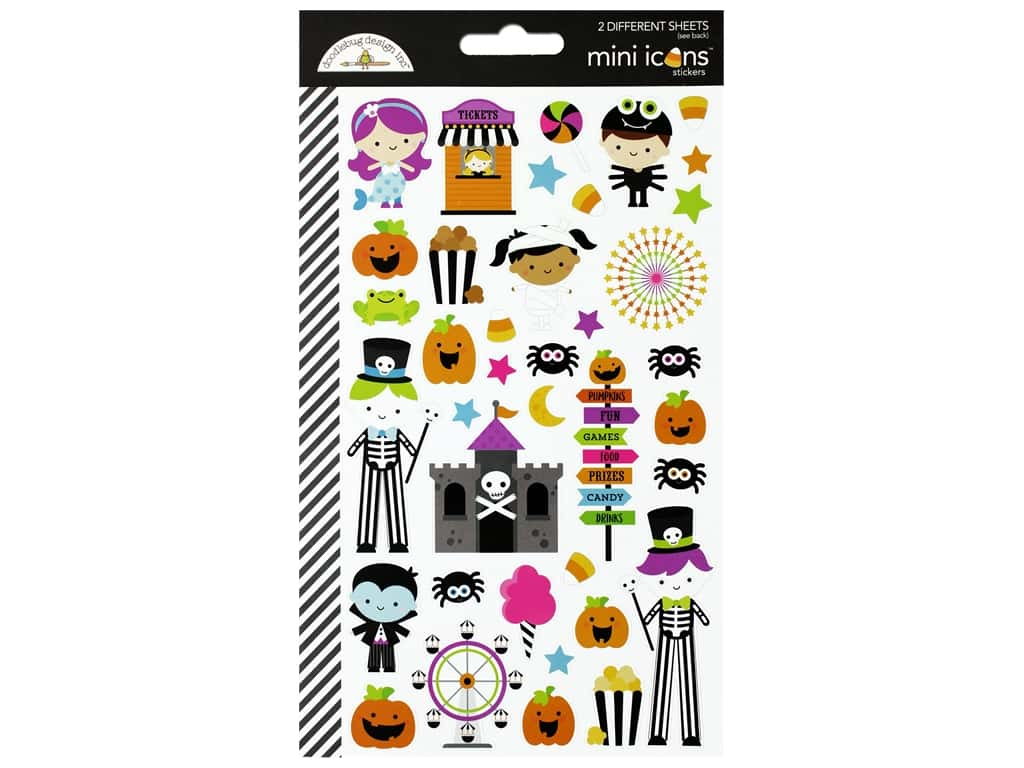Doodlebug Stickers Candy Carnival Mini Icons (12 sets)