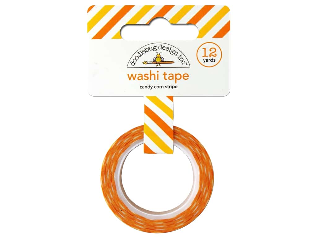 Doodlebug Washi Tape 5/8 in. x 12 yd. Candy Carnival Candy Corn Stripe