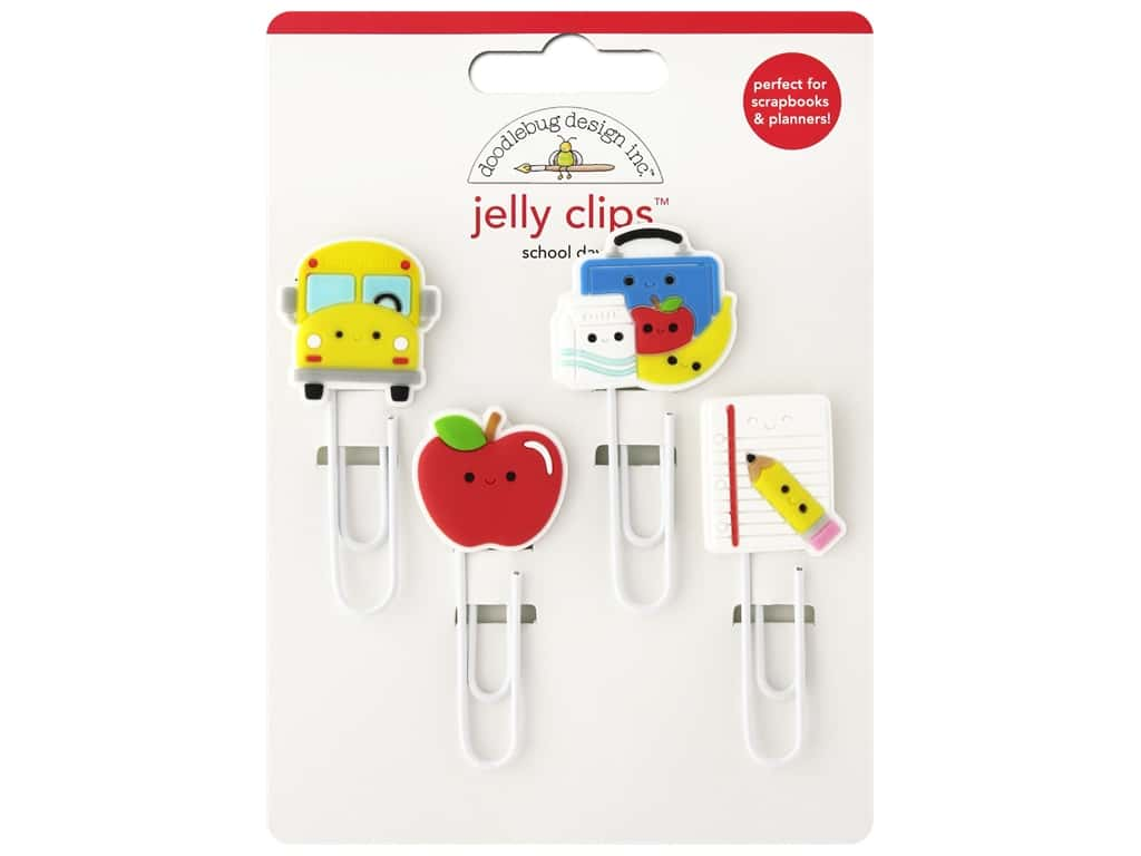 Doodlebug Jelly Clips 4 pc. School Days