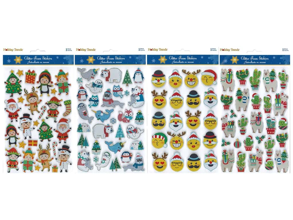 Multicraft Sticker Holiday 3D Foam Frenzy Assorted Icon (4 sets)