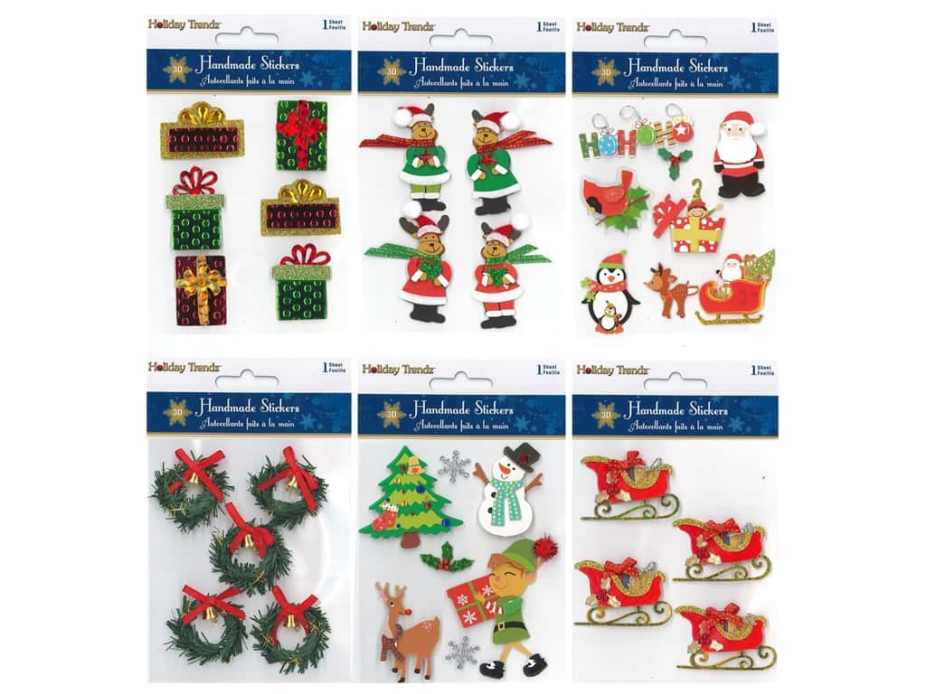 Multicraft Sticker Holiday 3D Handmades Assorted #2 (6 sets)