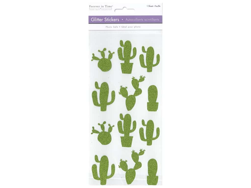 Multicraft Glitter Stickers Cactus