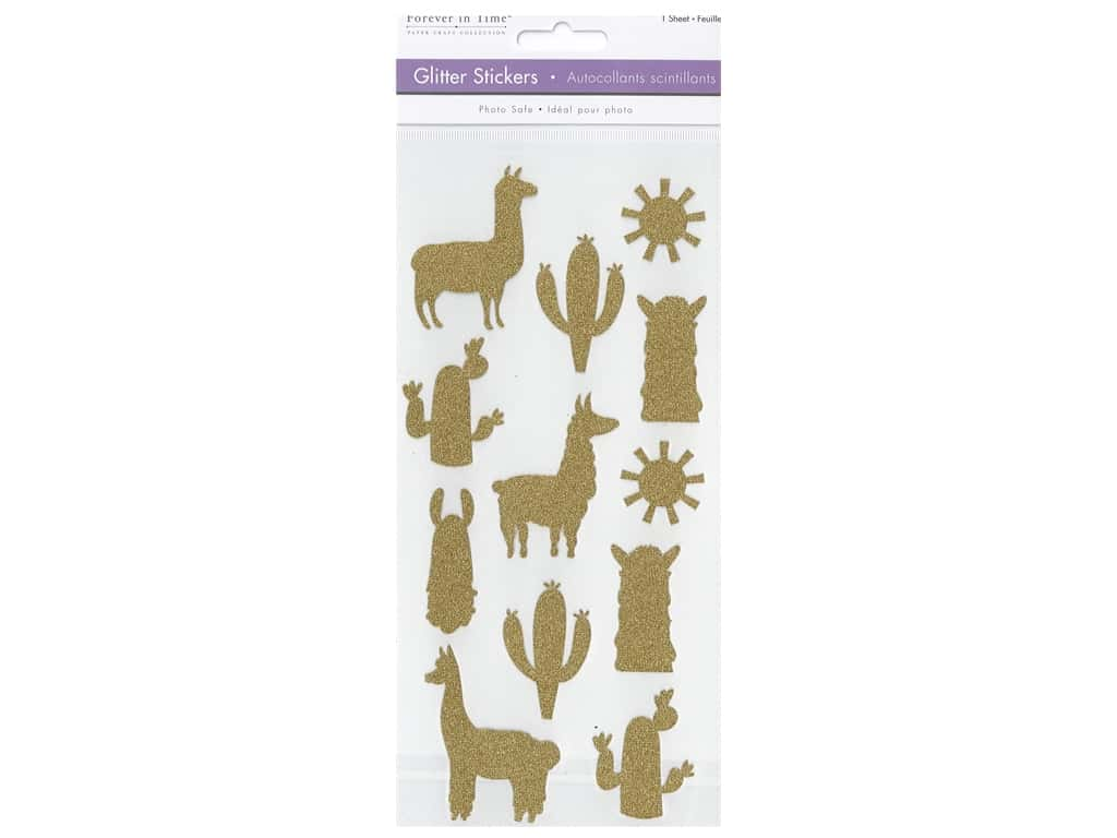 Multicraft Glitter Stickers Llama
