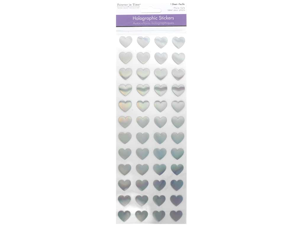 Multicraft Holographic Stickers Hearts
