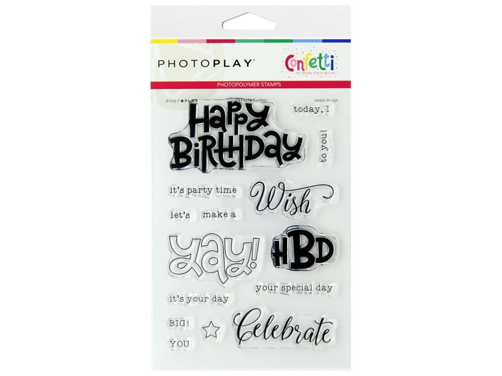 Photo Play Stamps Confetti