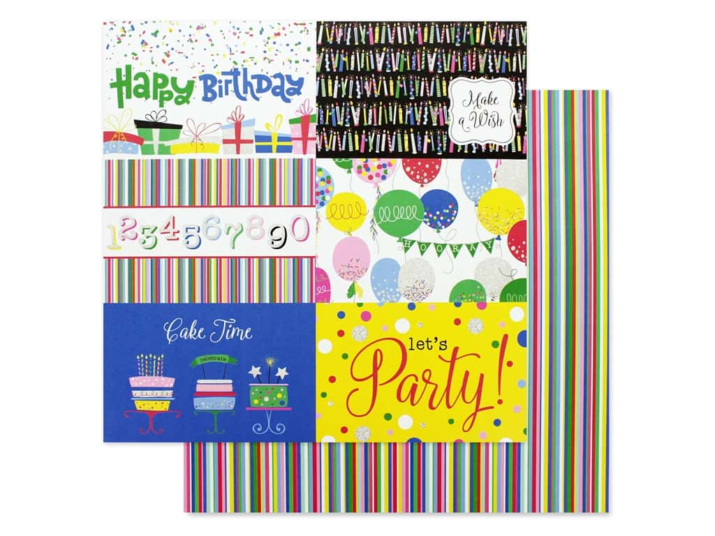 Photo Play 12 x 12 in. Paper Confetti Happy Birthday (25 pieces)