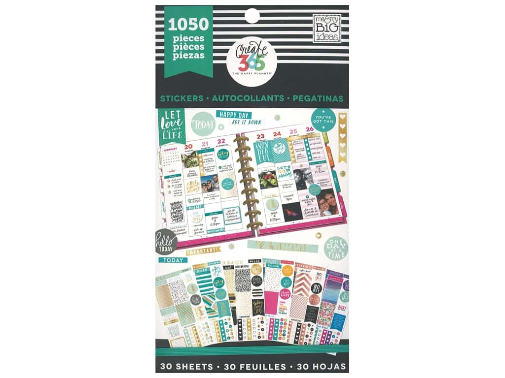Me&My Big Ideas Happy Planner Sticker Value Pack This Colorful Life