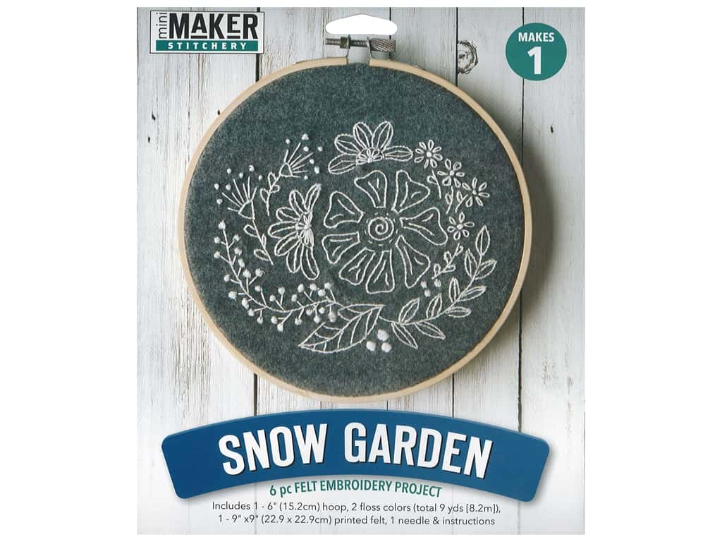 Leisure Arts Mini Maker Felt Embroidery Kit - Snow Garden