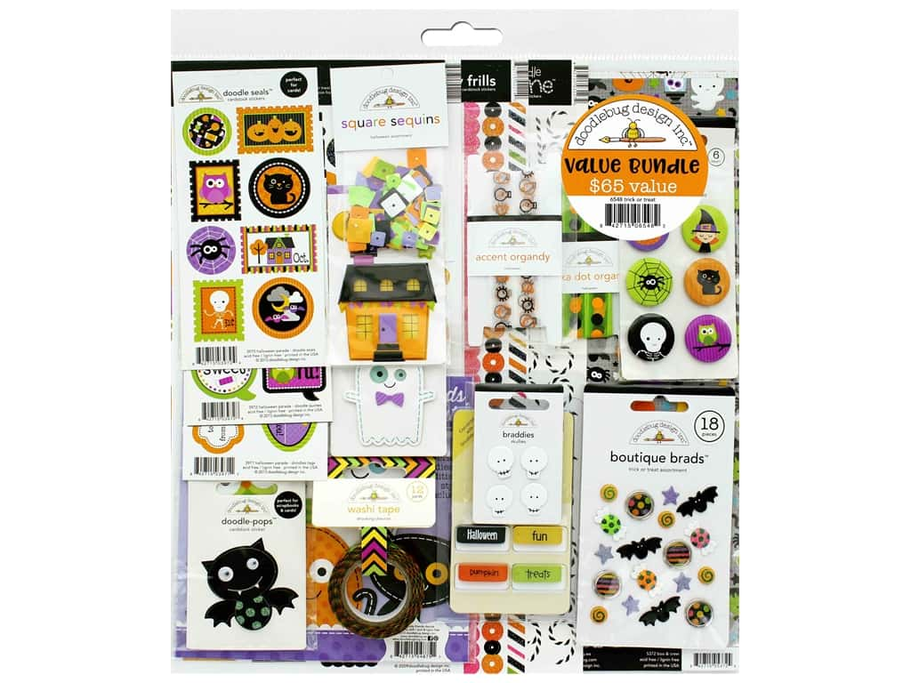 Doodlebug Kit Value Bundle Trick Or Treat
