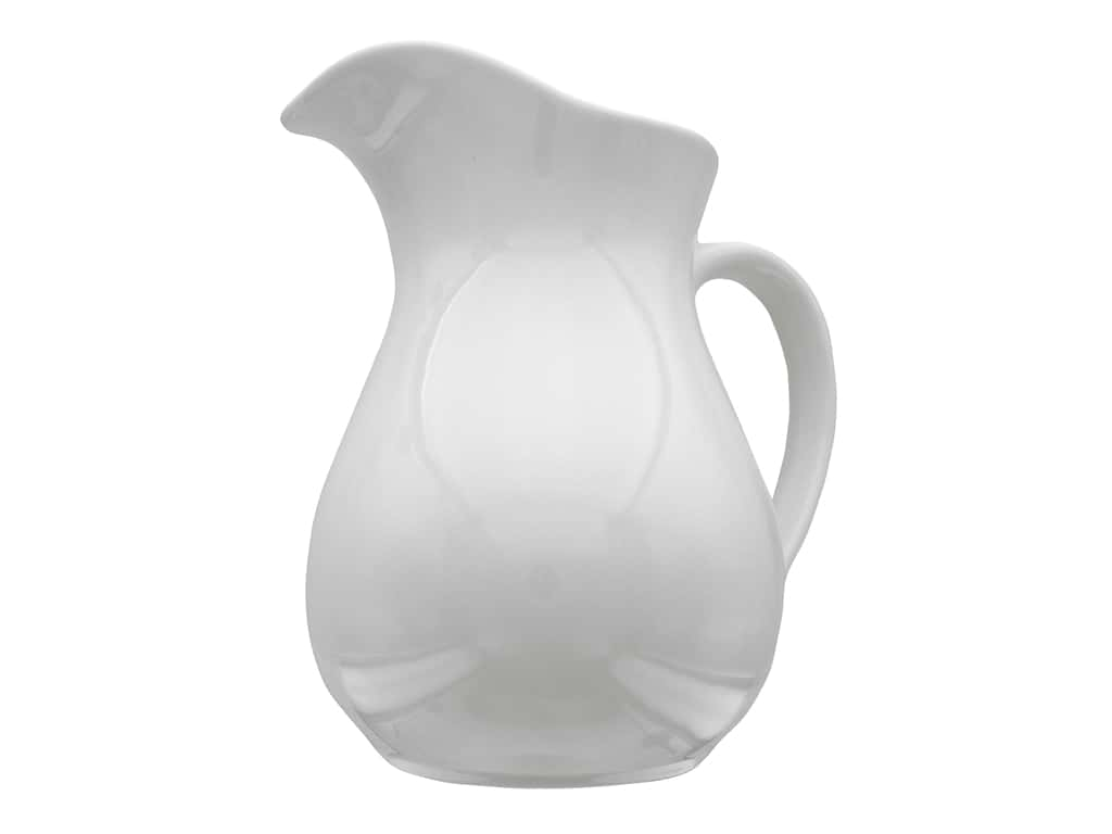 Leisure Arts Ceramic Pitcher 8.46 in.