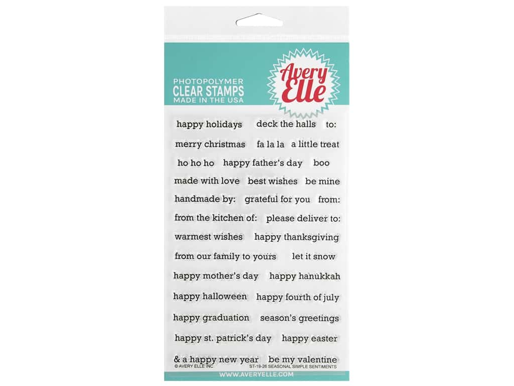 Avery Elle Clear Stamp Seasonal Simple Sentiments