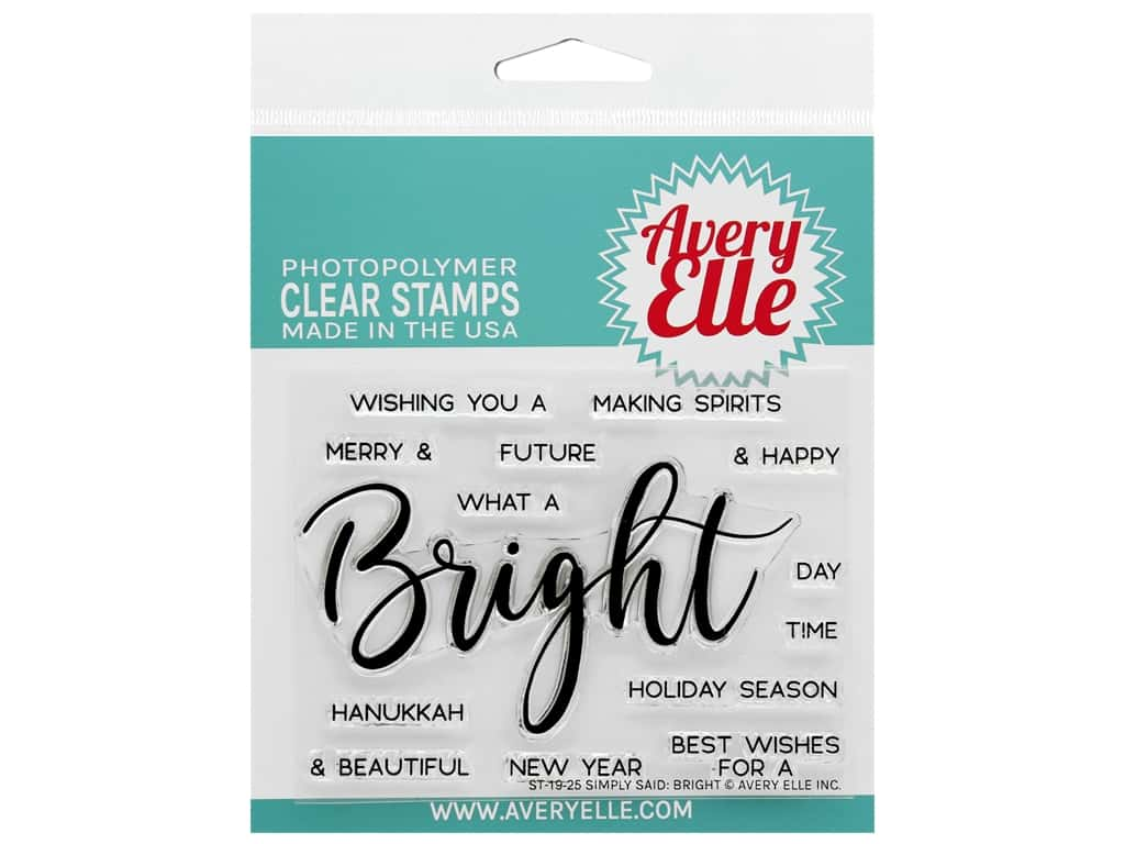 Avery Elle Clear Stamp Simply Said Bright