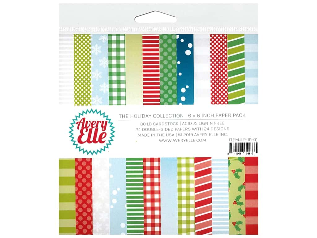 Avery Elle Paper Pad 6 in. x 6 in. The Holiday Collection