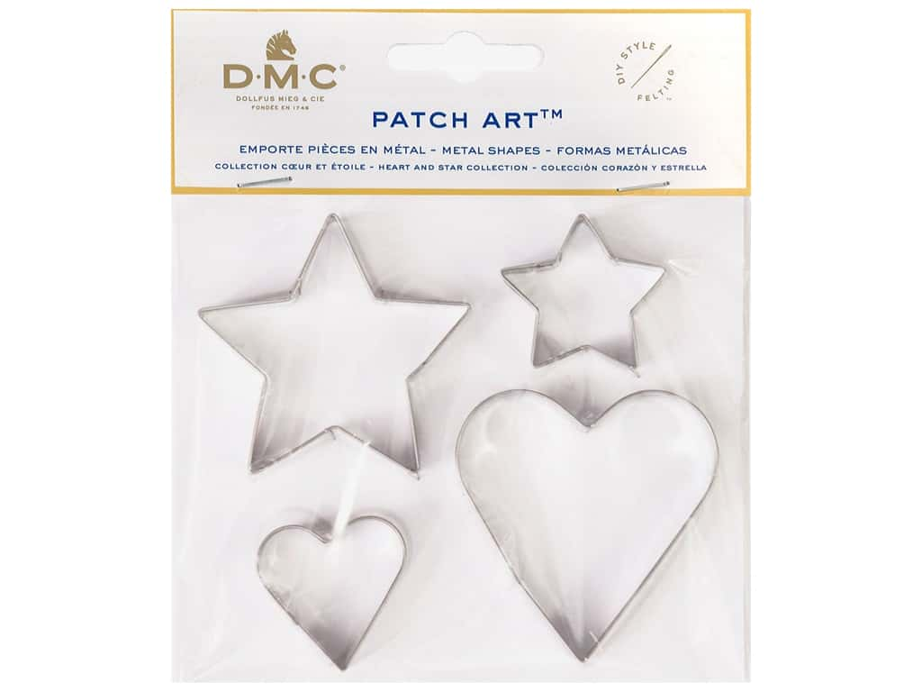 DMC Patch Art Metal Shapes Hearts & Stars
