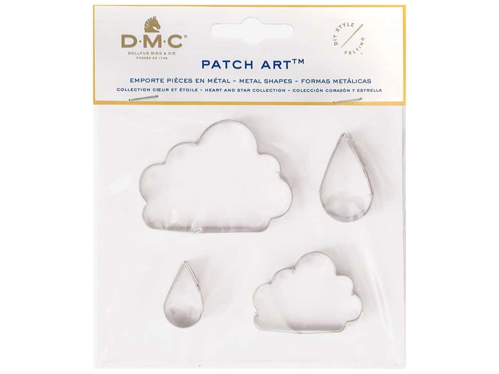 DMC Patch Art Metal Shapes Clouds & Rain